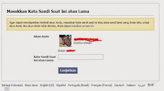 cara hack password facebook