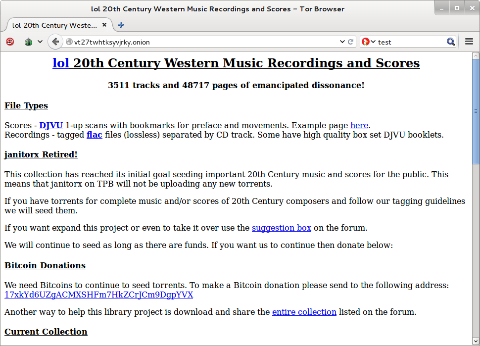 Site para baixar músicas na Deep Web