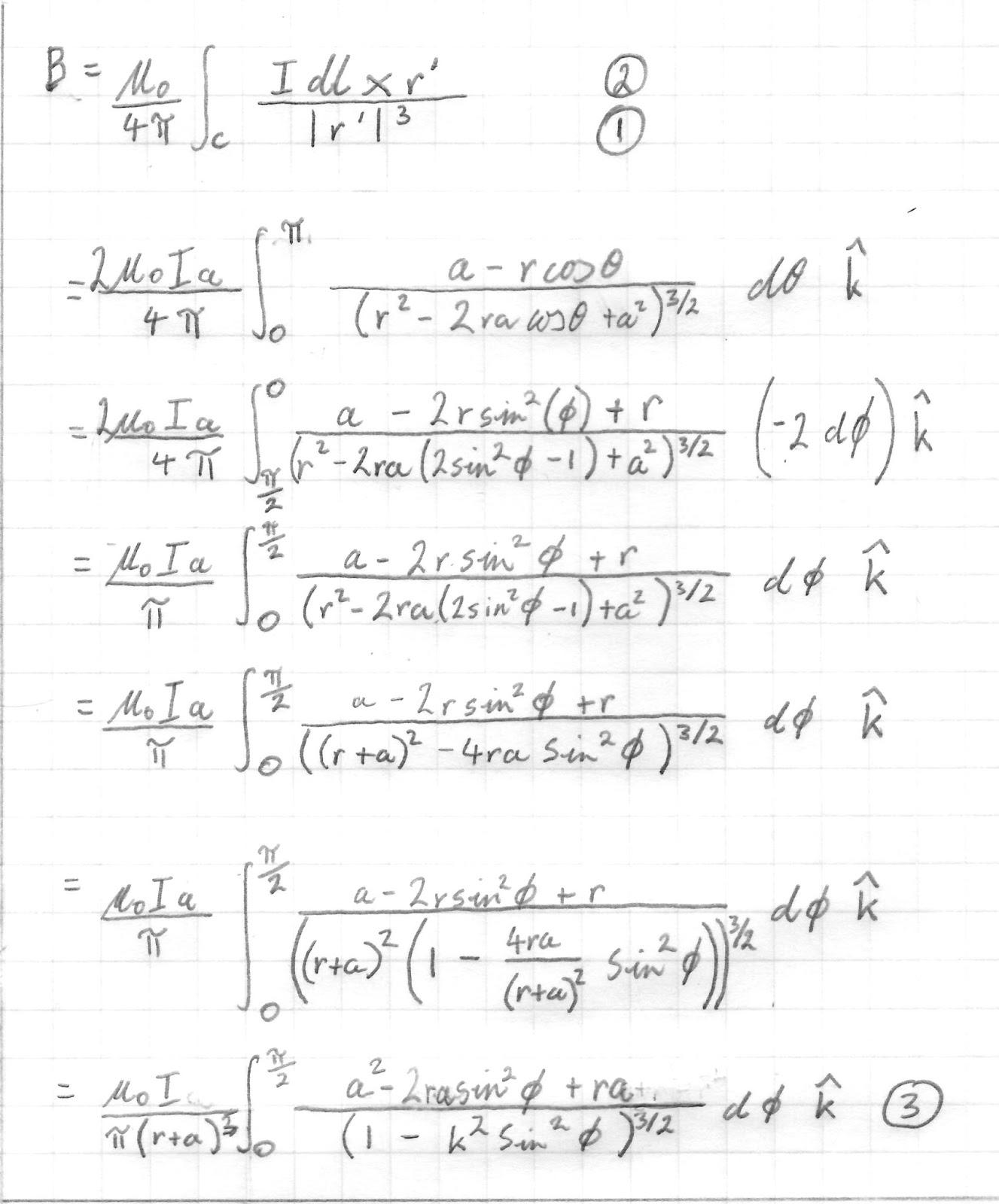 Magnetic field equation loop