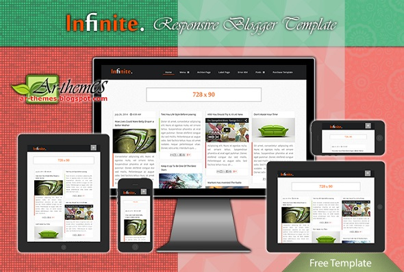 Infinite Responsive Blogger Template Preview