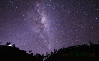 Natural Phenomenon Milky Way in Ranu Kumbolo