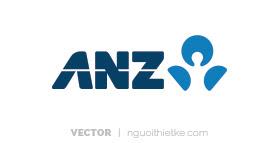 Logo ngân hàng ANZ vector