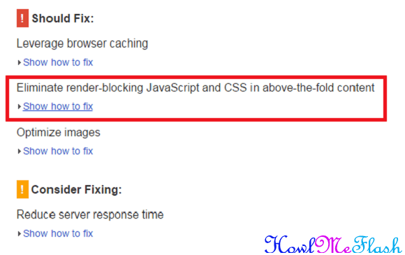 How To Fix Render Blocking CSS In Above The Fold Content