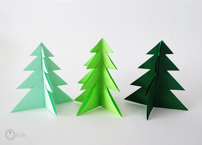 Diy paper christmas tree ohoh
