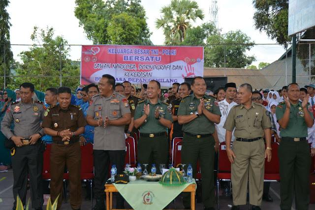 Keluarga TNI Polri di Bone Bersatu Lawan Narkoba, Pornografi dan Kekerasan