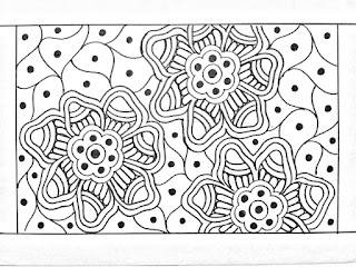 Tracing paper design drawing for hand embroidery saree