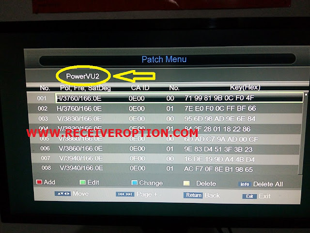 PROTOCOL NEW TYPE HD RECEIVER AUTO ROLL POWERVU KEY SOFTWARE