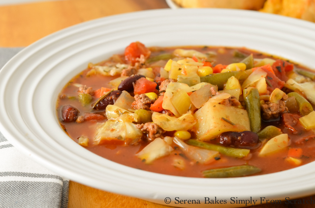 Hearty Crock Pot Hamburger Vegetable Soup