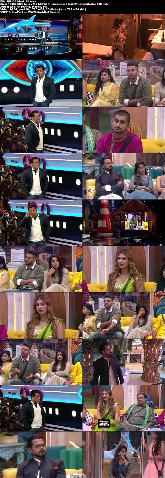 Bigg Boss 12 Episode 34 20 October 2018 WEBRip 480p 170mb x264 world4ufree.fun tv show Episode 34 20 October 2018 world4ufree.fun 200mb 250mb 300mb compressed small size free download or watch online at world4ufree.fun