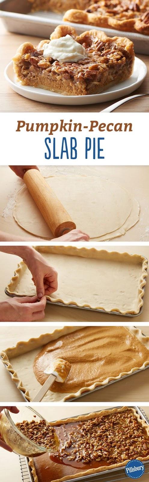 Pumpkin-Pecan Slab Pie