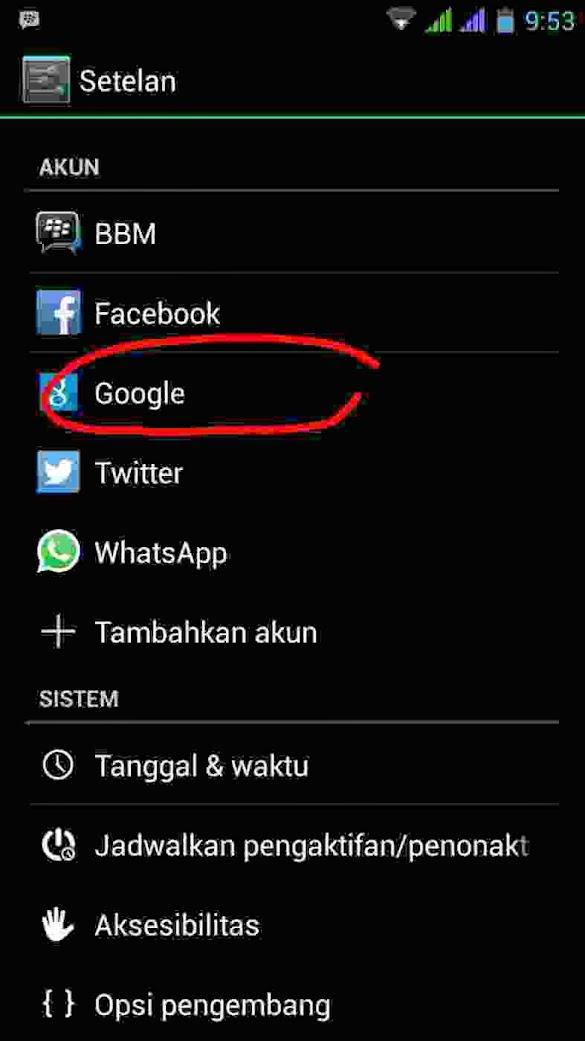 Cara Agar Notifikasi pesan email tidak tampil di layar Hp Android