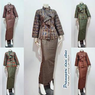 Model Baju Batik Pramugari Dasi Motif Etnik Lengan Panjang aneka warna