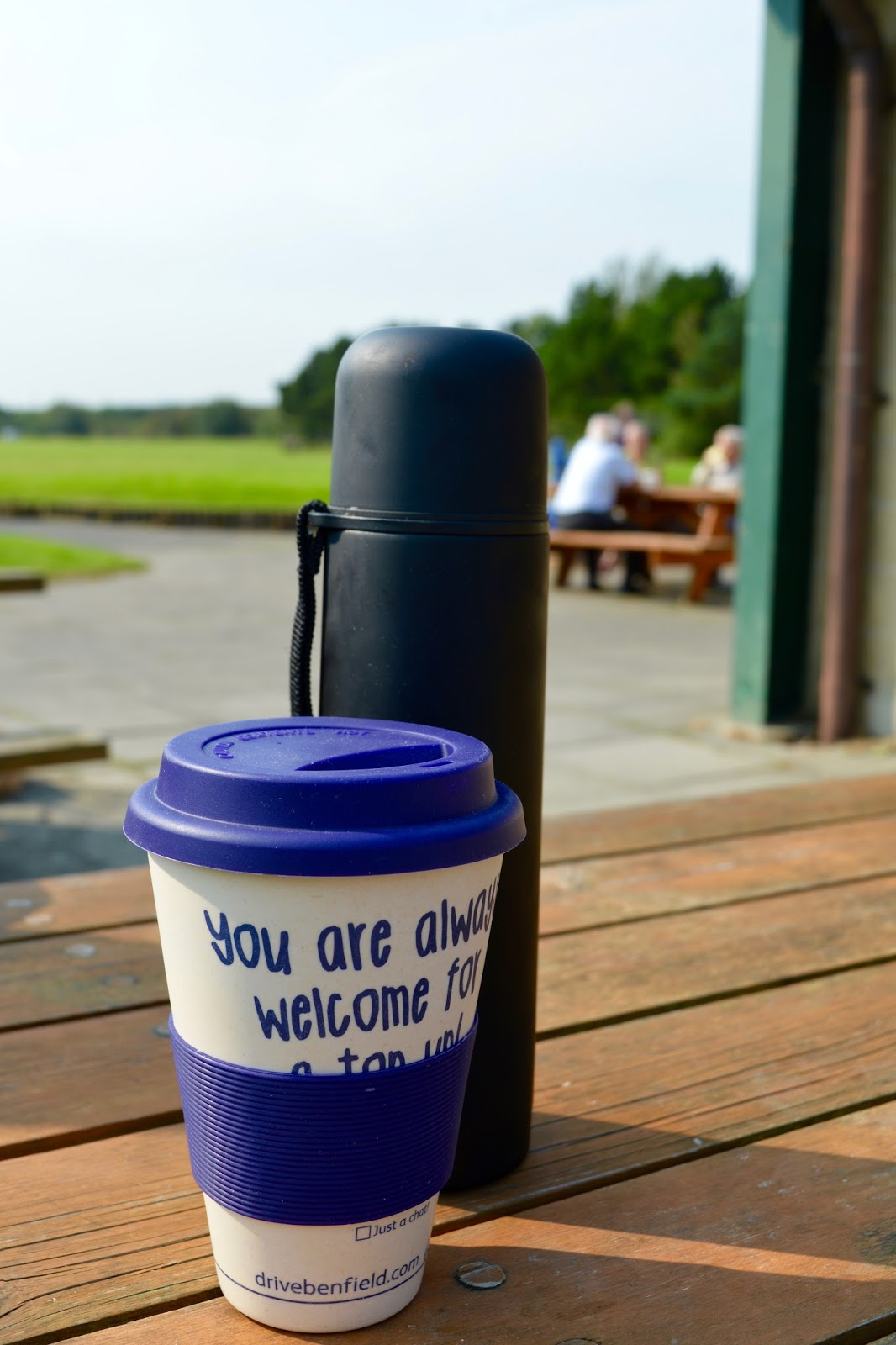 A walk around Ladyburn Lake at Druridge Bay Country Park | Northumberland - flask of coffee