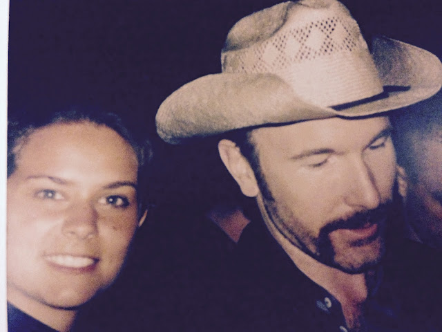 Edge and me 1997 after the Popmart show in Cologne