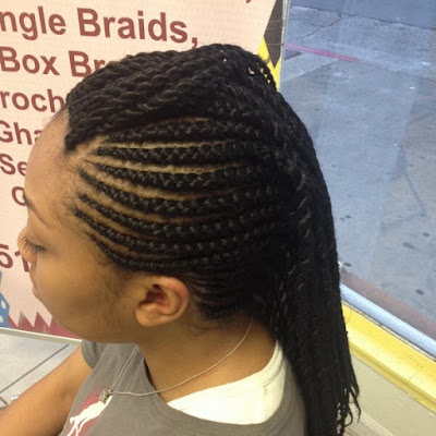 Ghana braids also called Banana cornrows 31 Latest Ghana Braids Hairstyles That Will Attract Your Beauty