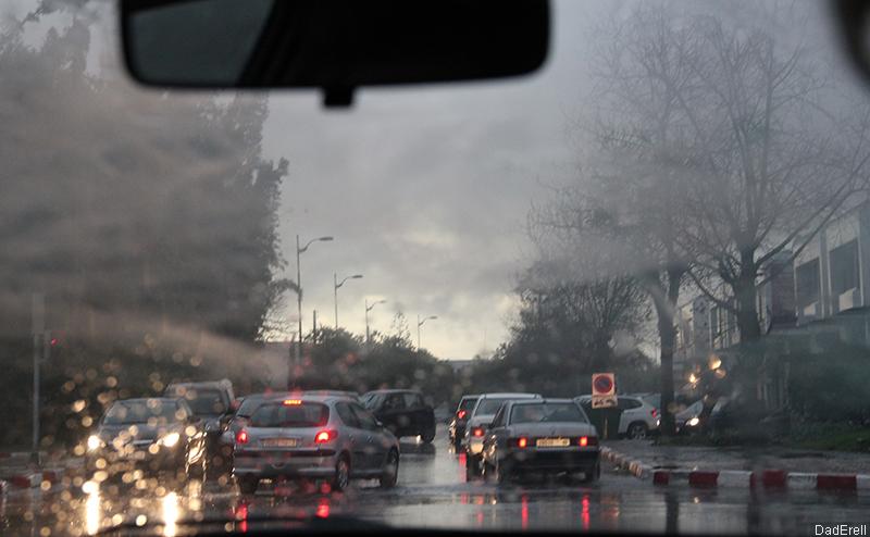 Sous la pluie à Rabat
