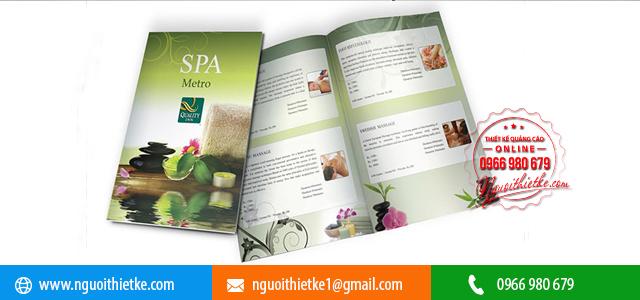 Mẫu Brochure Spa đẹp