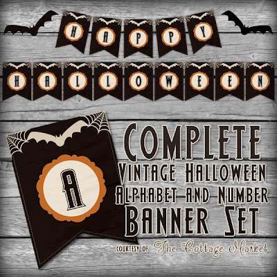 This printable Halloween banner set is is spooky for the holiday.