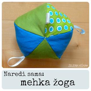 naredi sama: kako sešijemo mehko žogo za dojenčka - slikovna navodila