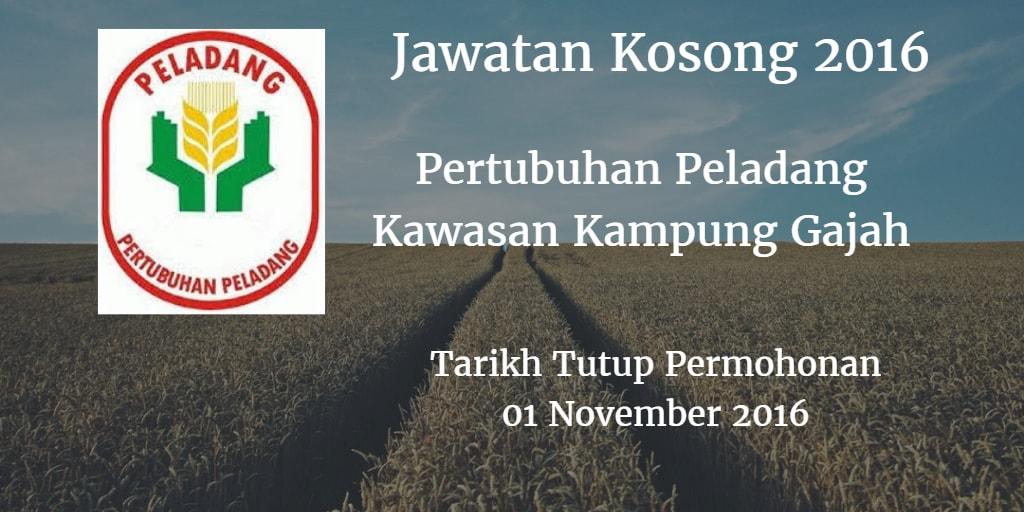 Jawatan Kosong Pertubuhan Peladang Kawasan Kampung Gajah 01 November 2016