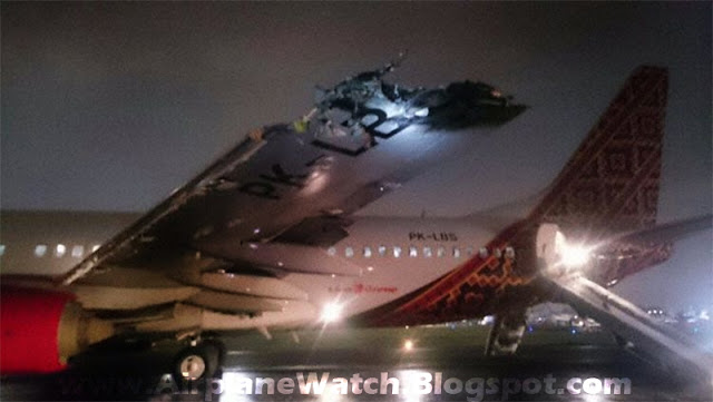 Batik Air Boeing 737-800 Wing Damage
