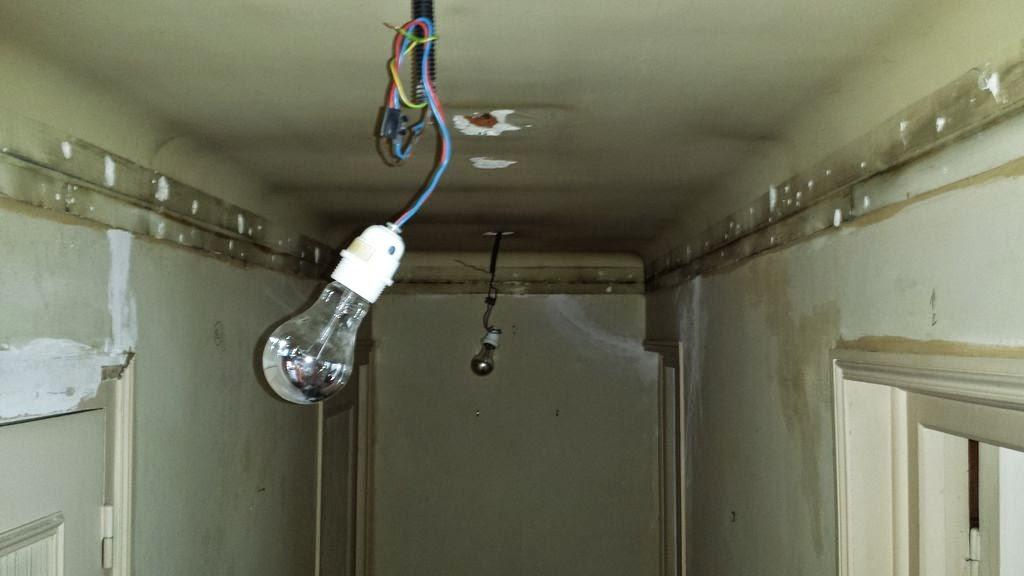 Couloir faux plafond partie 6 massy travaux bricolage for Faire un faux plafond en ba13