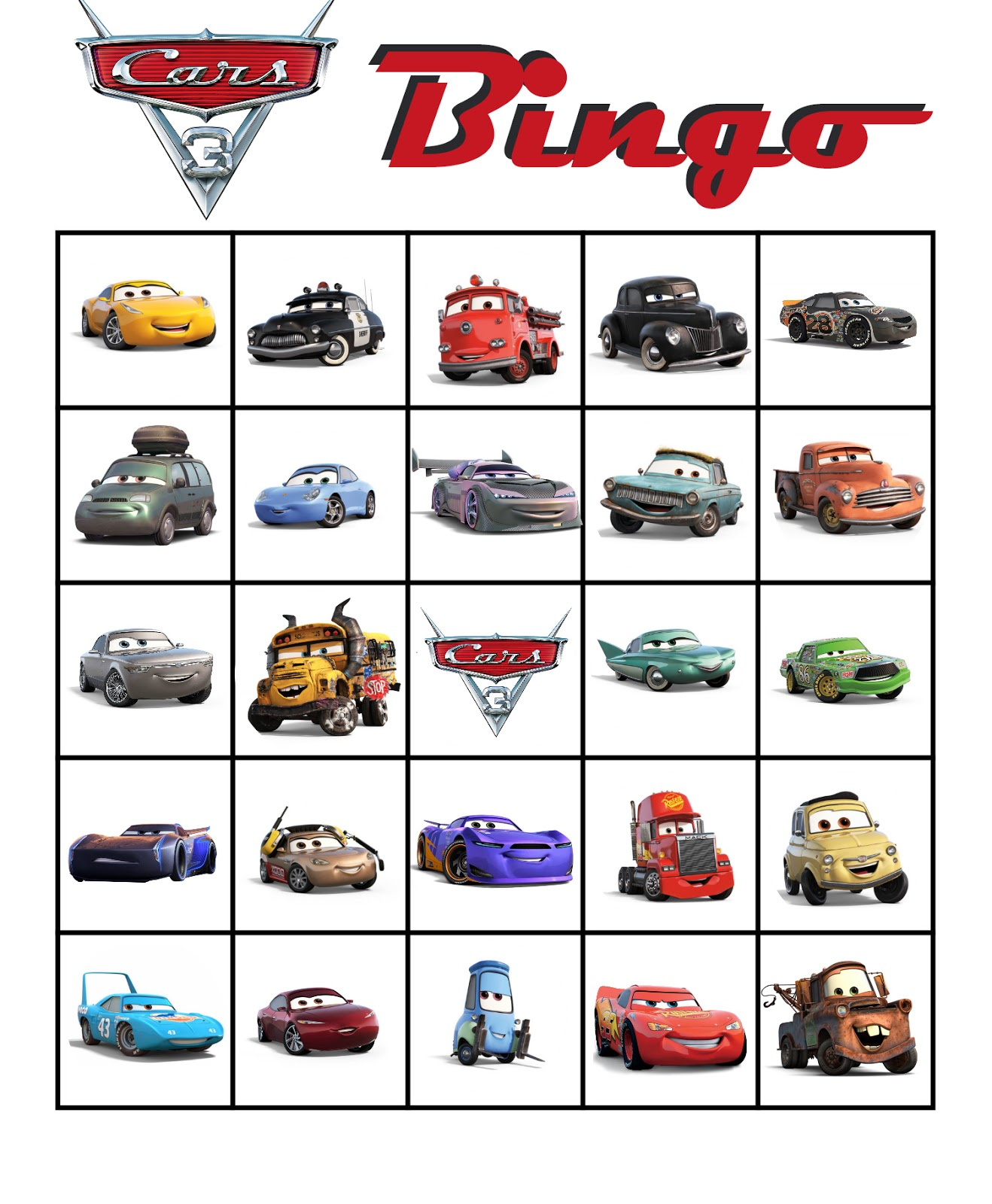 picture regarding Free Printable Cars named Musings of an Normal Mother: Autos 3 Bingo