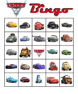 free printable Cars 3 party games
