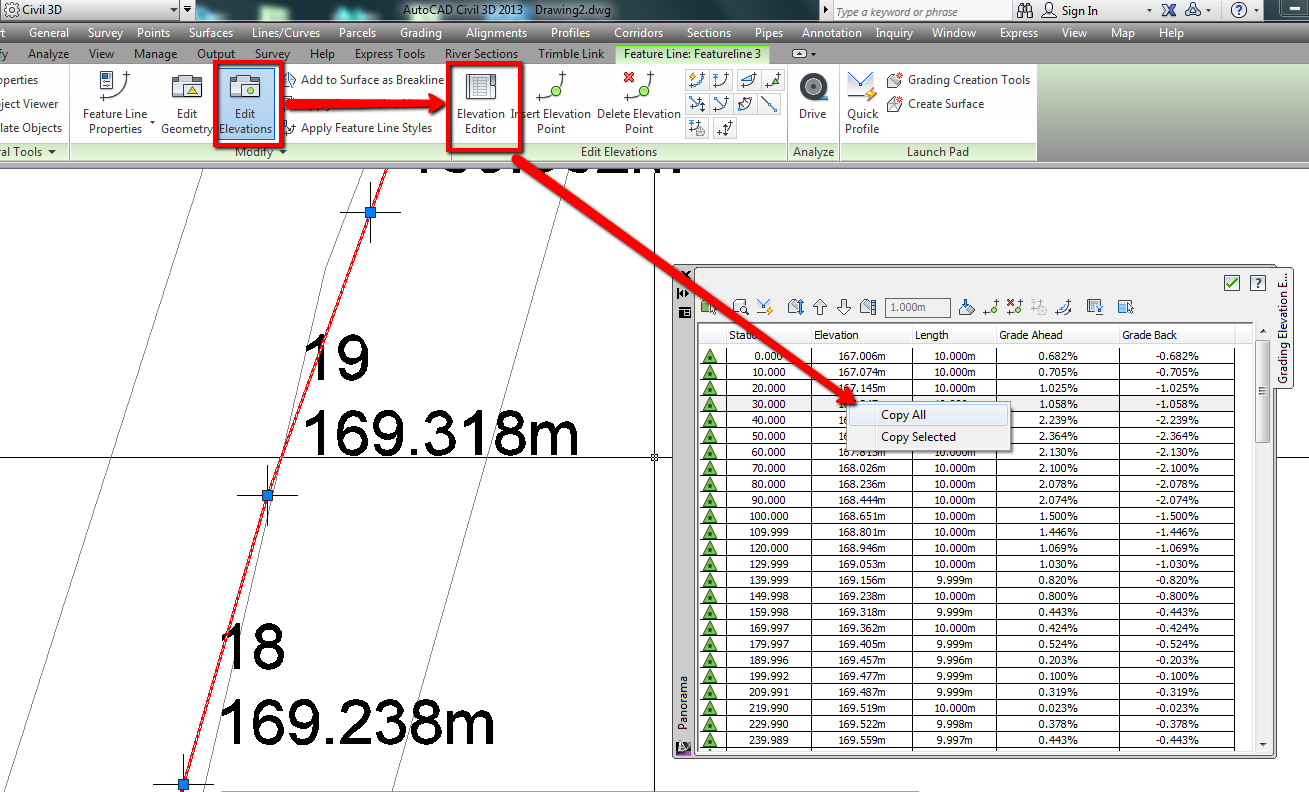 Creating a Profile from Single Line of Points