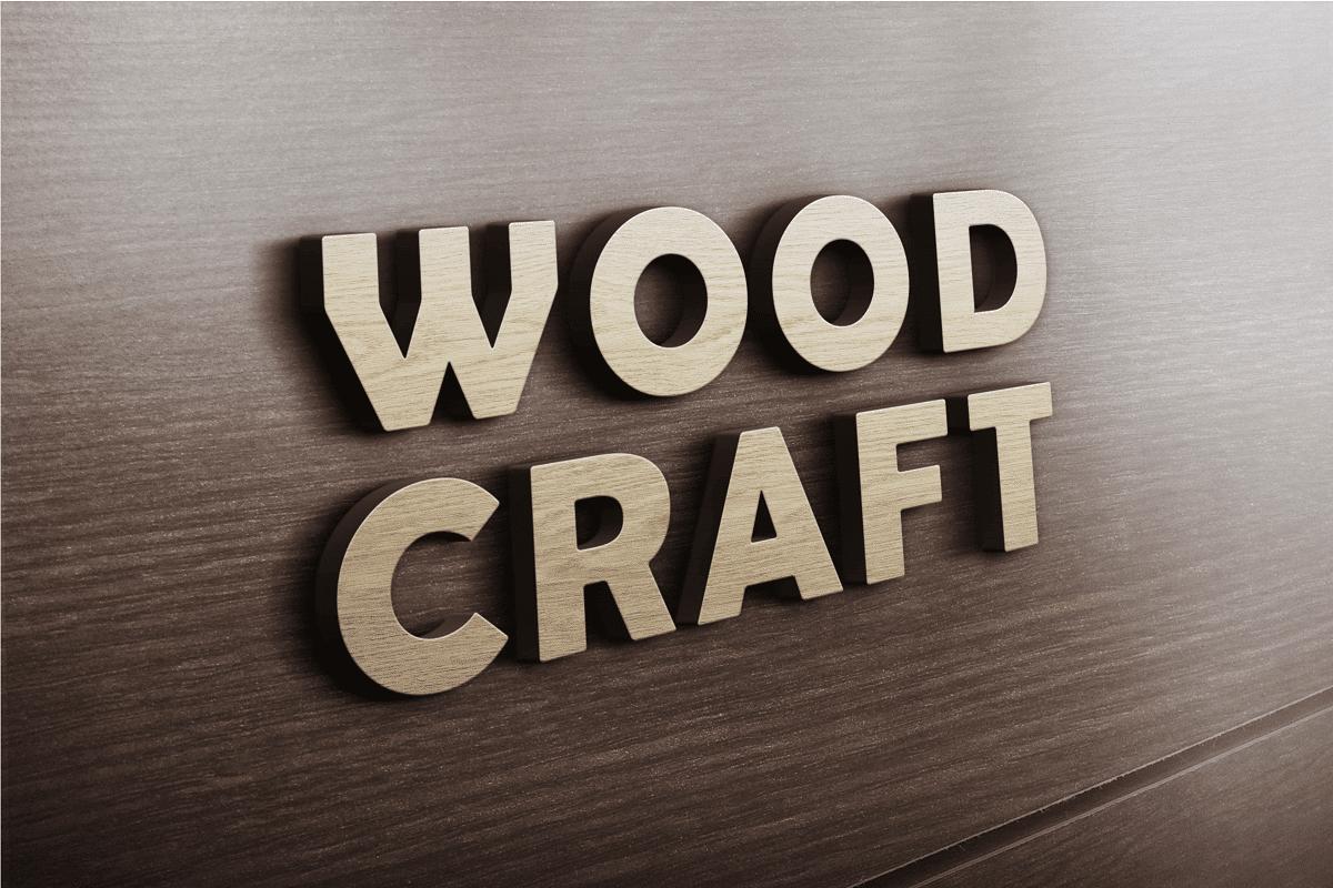 Download 3D Logo Mockup PSD - 3D Wooden Logo MockUp