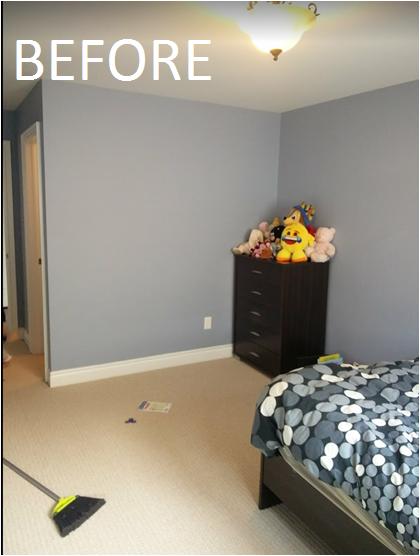 makeover of kids bedroom
