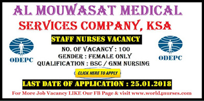 NURSES FOR AL MOUWASAT MEDICAL SERVICES COMPANY, KSA