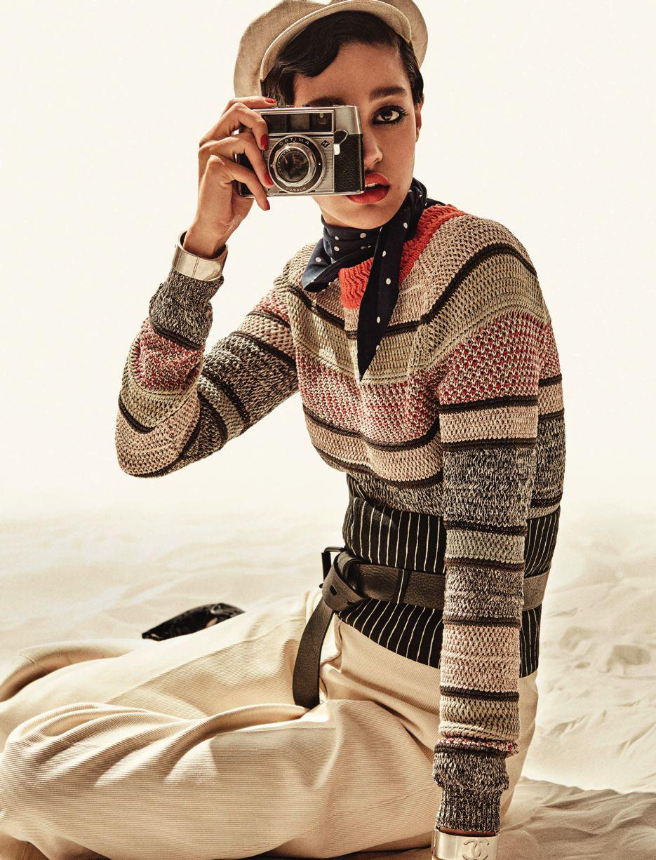 Damaris Goddrie in Lady Sunshine / Vogue Germany May 2016 (photography: Giampaolo Sgura, styling: Cristiane Apr, hair: Franco Gobbi, make-up: Cosetta Giorgetti) via www.fashionedbylove.co.uk british fashion blog
