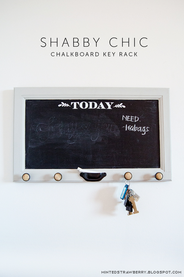 shabby chic chalkboard key rack main