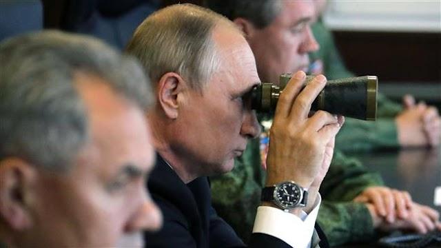 Russian President Vladimir Putin attends Zapad-2017 joint drills with Belarus
