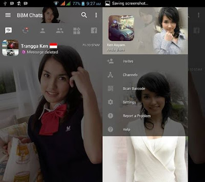 BBM MOD Maria Ozawa Sexy v3.2.0.6 APK Full Transparan
