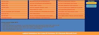 Aplikasi Administrasi Guru Kelas SD Kurikulum 2013 dengan Microsoft Excel