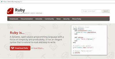 top programming languages-ruby-homepage