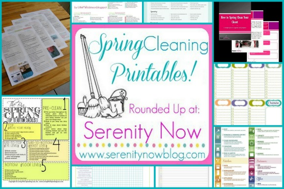 Round Up of Free Spring Cleaning #Printables at Serenity Now