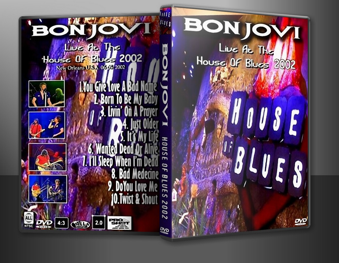 Bon Jovi - Live New Orleans, LA 2002 (pro-shot) DVD
