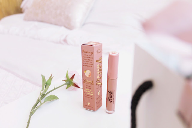 Too Faced Papa don't Peach gloss review