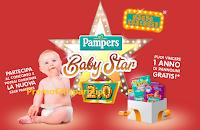 Logo Pampers Baby Star 2.0: ben 12 bambini diventano il volto delle iniziative Pampers e vincono 1 anno di fornitura