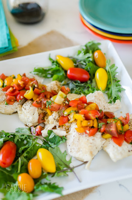 slow cooker chicken with bruschetta topping recipe