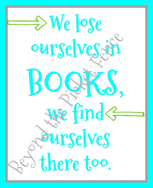 free printable quote about books and how to read more