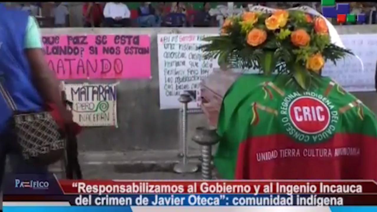 La comunidad indígena nasa reclama justicia tras el asesinato del comunero Javier Oteca, en Corinto
