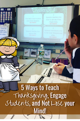 Engage your students and teach Thanksgiving Activities for kids in elementary and middle school. #thanksgivinglessons #thanksgivingactivities #middleschool #elementaryschool