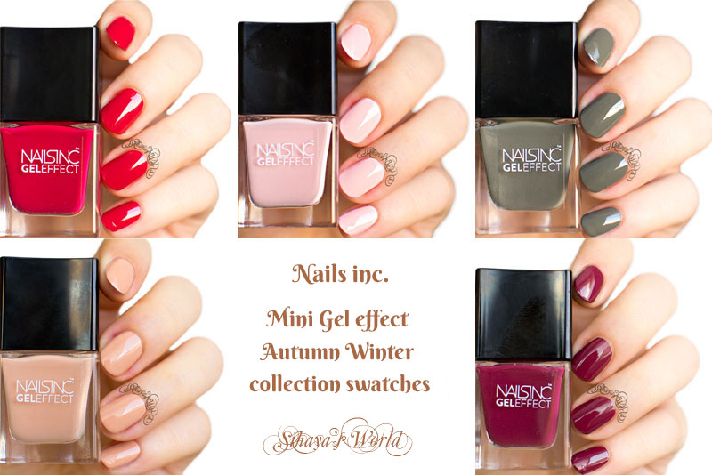 nails inc autumn winter collection swatches