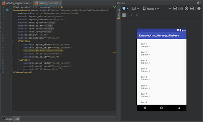 Android Studio - Chat Message Firebase