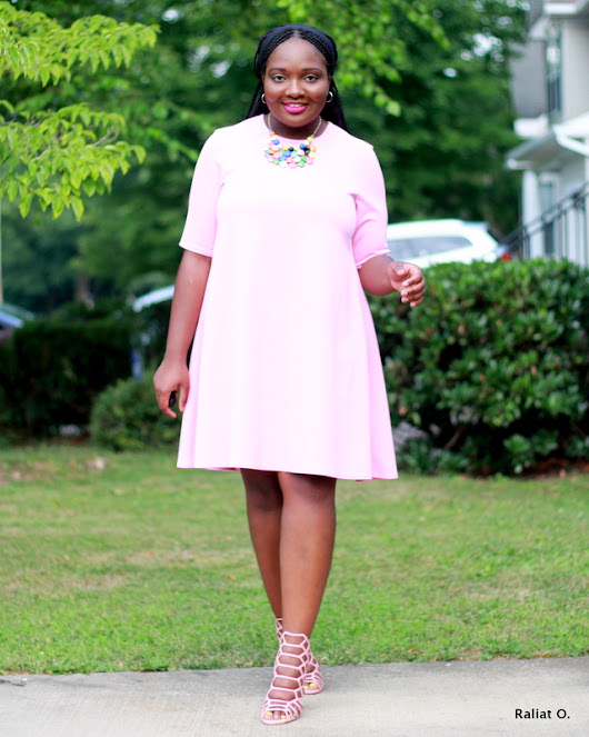 My DIY: Pastel Pink Swing Dress + New Look 6469 Pattern
