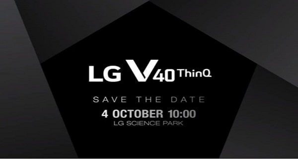 LG V40 ThinQ officially coming on October